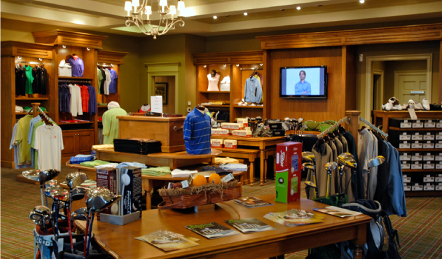 Interior of the pro shop at Lake Presidential